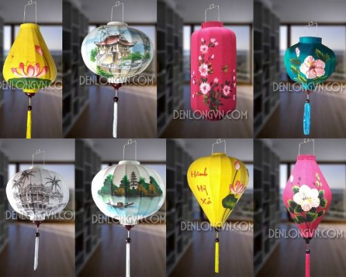 Mẫu vẽ đèn lồng Hội An | Đèn lồng tết